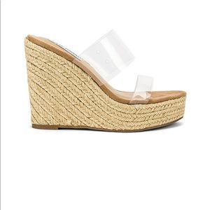 Steve Madden sunrise - wedges with clear straps